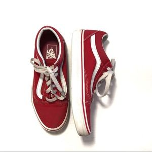 Vans old Skool style red lace up sneakers